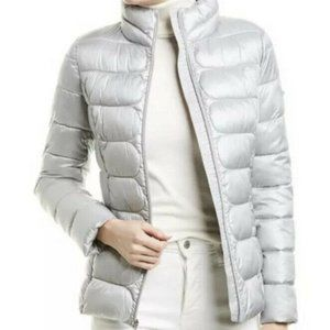 New Via Spiga Stand Collar Packable Puffer Jacket